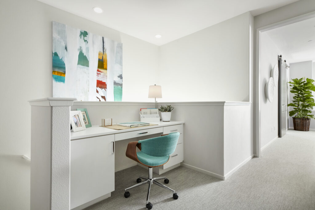 Add color to your home office to give it some personality.