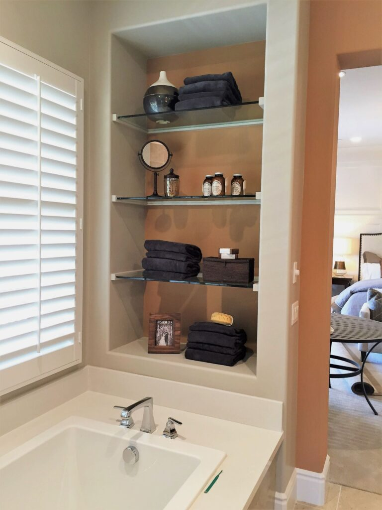 Display beautiful soaps and nice towels in the bathroom for guests to feel pampered.