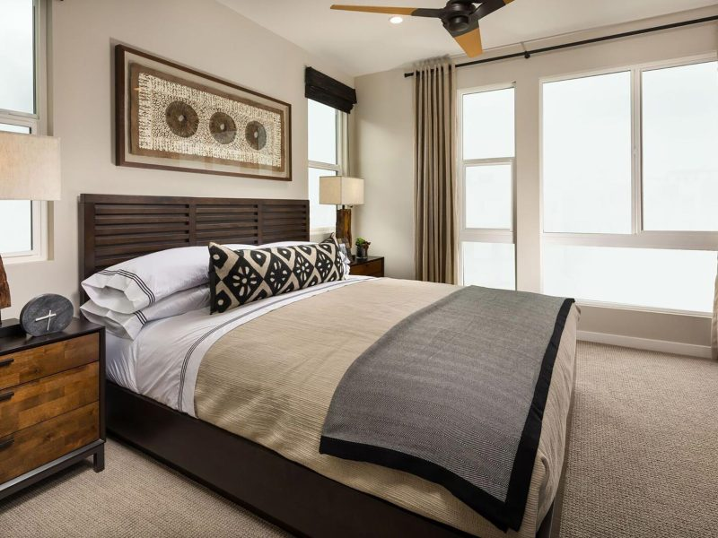 master bedroom at Intracorp at the place in costa mesa