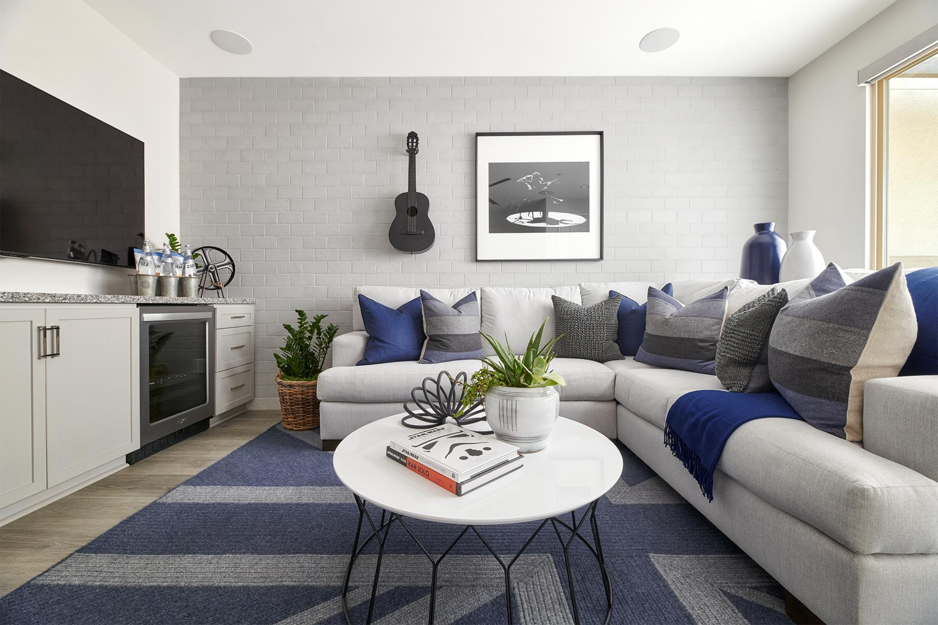 living room at Hazel at The Preserve in Chino