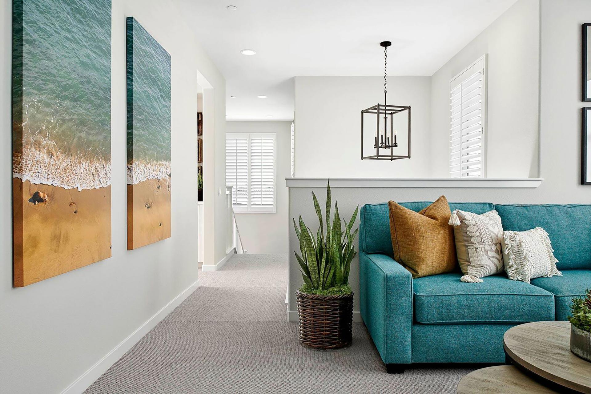 Living room at mystral at Skyline in Santa Clarita